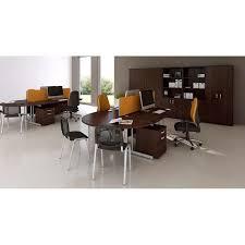 Lockable Desk 2000mm 2m High Wooden Office Storage Cupboard In White Beech