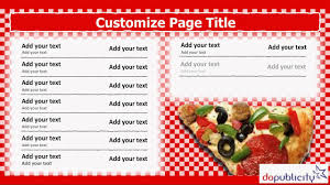 customizable menu templates digital menu board template for italian pizza restaurant