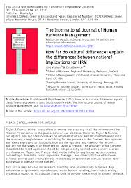 how far do cultural differences explain the differences between