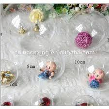 orange gold and clear plastic fillable ornaments for sale