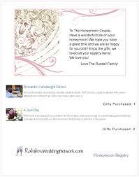 wedding gift registry message gift card wedding registry