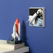 Space Themed Bedding Kitchen Design Fascinating Awesome Original Rocket Light Switch