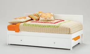 girls bed with trundle girls day bed white and orange big girlu0027s room features a