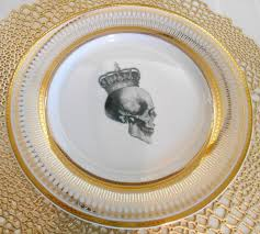 halloween plates gold skull dish durable u0026 foodsafe skull plate halloween