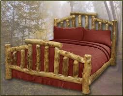 Log Queen Bed Frame Queen Log Furniture Warehouse