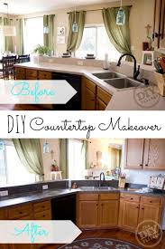 Cheap Kitchen Countertops by Kitchen Diy Countertop Makeover Concrete Affordable Kitchen