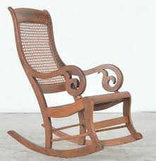 Antique Pressed Back Rocking Chair Antique Rocking Chair With Cane Seat And Back Ebth
