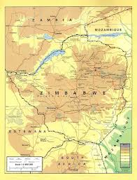 Physical Features Map Of Africa by Map Of Zimbabwe