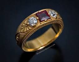 mens vintage rings images Antique russian gold spinel and diamond men 39 s ring jewelry jpg