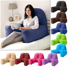 reading bed pillow chloe bed reading bean bag cushion arm rest back support pillow rest
