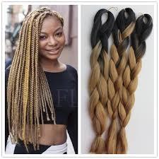 packs of kanekalon hair 3packs lot ombre kanekalon braiding hair synthetic hair 24 300g