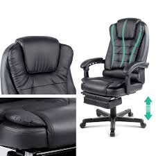 stuart office massage office chair with footrest just