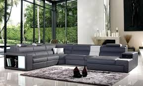 Grey Leather Sectional Sofa Contemporary Leather Sectional Sofa With Color Options Washington