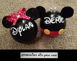 disney ornament minnie mouse personalized glass