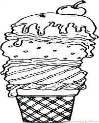 coloring pages ice cream cone ice cream cone printable coloring pages sundae radiorebelde info