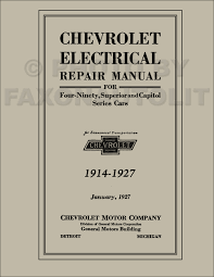 1927 1928 chevrolet car and truck repair shop manual reprint