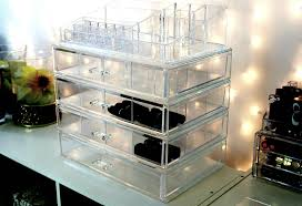 clear makeup storage containers clear cube clear acrylic make up