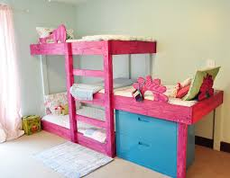 diy space saving triple bunk bed free plan tutorial