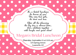 wording for bridal luncheon invitations brunch invitations