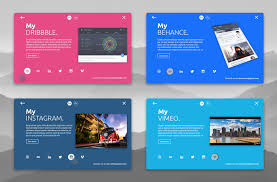 personal social card material design animation by christophe