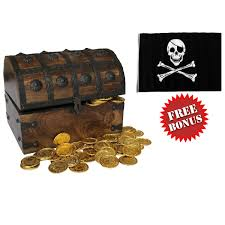 Wooden Nautical Flags Amazon Com Nautical Cove Wooden Pirates Treasure Chest Box With A