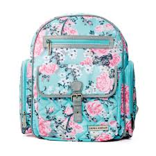 laura ashley 4 in 1 rose floral dome backpack diaper bag teal