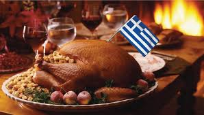 thanksgiving table with turkey a guide to the greek thanksgiving table roast that greek turkey