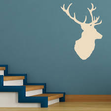 stags head v2 deer vintage wall sticker world of wall stickers the product is already in the wishlist browse wishlist stags head v2 deer vintage wall sticker