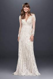 lace wedding dress with sleeves sleeve wedding dresses gowns david s bridal