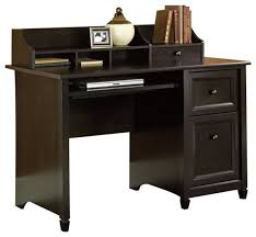 Sauder White Desk With Hutch Sauder Edge Water Computer Desk In Estate Black Transitional