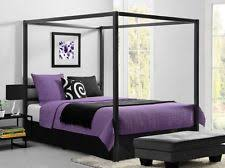 Metal Frame Bed Queen Canopy Bed Frame Ebay