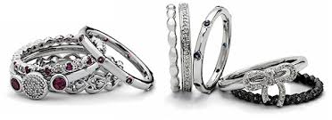 stackable birthstone rings stackable mothers rings birthstone studded band