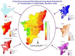 Gujarat Map Blank by Geographic Environmental Risk Map Tamil Nadu U2022 Mapsof Net
