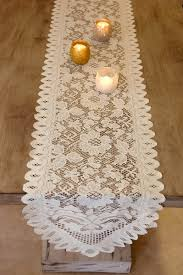 table runner table runners ivory 13 x 120in