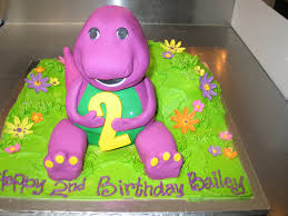 barney birthday cake 3d barney birthday cake fondant icing charly s bakery flickr