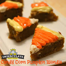 pumpkin candy corn candy corn pumpkin blondie goodies yum x immaculate baking