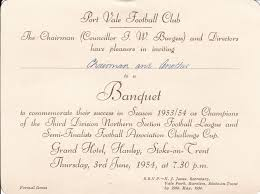 An Invitation Card Port Vale An Invitation Card From The Chairman Of Port Vale Fc To