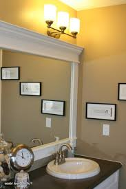 Framing A Bathroom Mirror by Bathroom Cabinets Update Bathroom Mirror Frame Around Bathroom