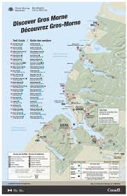 Canada Road Trip Map by Parks Canada Gros Morne National Park Map Newfoundland And