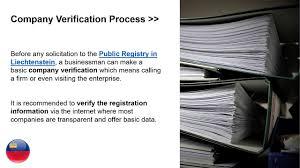verification of a company in liechtenstein