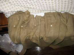 Burlap Bed Skirt A Walk Through No Sew Burlap Bedskirt