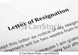 stock photography of letter of resignation close up of a u0027letter