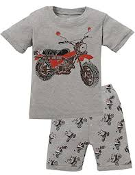 boys pajamas motorcycle cotton toddler boys clothes