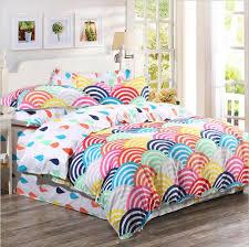 Duvet Covers Uk Cheap 2015 Organic Cotton Bedding Sets Cotton Rainbow Printed Duvet
