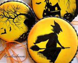 halloween biscotti decorati con ghiaccia reale dipinti halloween
