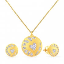 set of gold gold pendant set jewellery online malabar gold diamonds