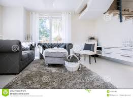 Living Room Grey Sofa by White Living Room With Grey Sofas Stock Photo Image 47303181