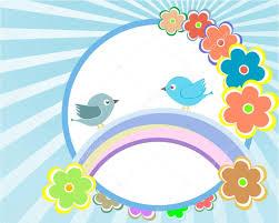 Invitation Card Background Design Vector Bird And Flower Background Design Baby Invitation Card