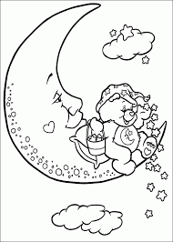 care bears coloring pages moon coloringstar