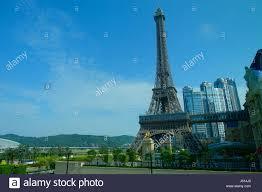 macau china may 11 2017 amazing and beautiful eiffel tower in